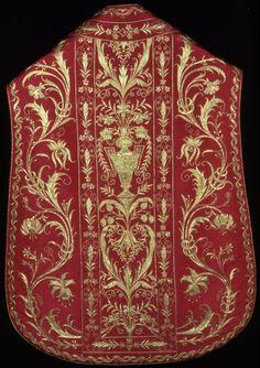 catholic Bishops vestments - Chasuble back side, 1775/1825