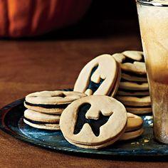 Black Cat Sandwich Cookies | MyRecipes.com