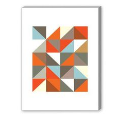 Americanflat Visual Philosophy Harlequin 3 Graphic Art on Canvas Size: