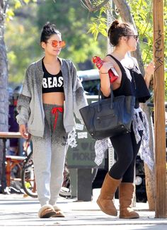 Vanessa Hudgens and Stella Hudgens at Aroma Coffee & Tea in Los Angeles
