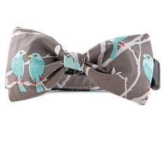 Hey, I found this really awesome Etsy listing at https://www.etsy.com/listing/235559097/bow-tie-dog-collar-taupe-and-green-bird