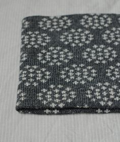 Image of Cow Parsley Cowl in Slate/ Silver no pattern Fair Isle Knitting Patterns, Knitting Charts, Easy Knitting, Knitting Stitches, Knitted Shawls, Knitted Blankets, Norwegian Knitting, Cow Parsley, How To Purl Knit