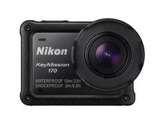 NIKON KeyMission170 Actioncam 4k UHD, Full HD inkl. Fernbedienung, WLAN     8.3 Megapixel     240 fps ntegrierte Lautsprecher:     ja Wasserdicht bis:     10 m für 60 Min.     46.8 mm x 66.4 mm x 42.7 mm / -     Stoßfest bis 2 Meter, SnapBridge-App 360/170, TFT-Monitor mit anti-reflektierender Beschichtung, Digital-Zoom über das Smartgerät, Auslösen der Foto- oder Bildaufnahmen per Fernbedienung, Live-View – 100 % Bildabdeckung, Superzeitrafferfunktion
