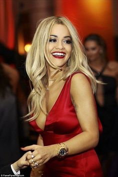 Rita Ora wows in red dress as she attends family wedding in Kosovo - Red Dresses - Ideas of Red Dresses - Looking good:X Factor judge Rita Ora took a break from her hectic schedule to attend a family wedding in Kosovo recently Rita Ora, Female Singers, Oras, Celebs, Celebrities, Woman Crush, Sensual, Girl Crushes, Her Style