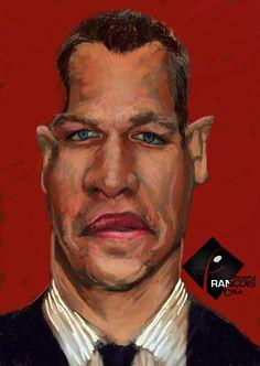 Caricature Matt Damon
