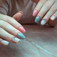 Pastel Marble Coffin Nails ❤ 30+ Outstanding Short Coffin Nails Design Ideas For All Tastes ❤ See more ideas on our blog!! #naildesignsjournal #nails #nailart #naildesigns #coffins #coffinnails #shortcoffinnails #coffinnailshapes