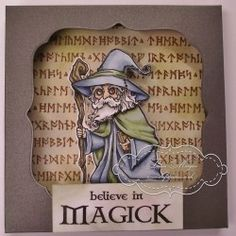 Visible Image stamps - Myrddin Magick - Wizard - Teresa Morgan