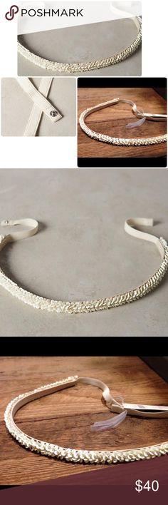 "💃HP💃 Anthropologie Shimmered Ishani Belt NWT Shimmered Ishani Belt Anthropologie ❤️Beautiful shimmered belt with petal designes😍😍Cotton, elastic, plastic sequin length 30"" 1"" width. Size Medium Anthropologie Accessories Belts"