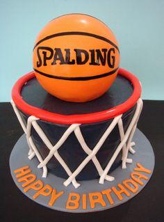 Basketball birthday cake - butter hearts sugar: January 2013