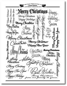 Free Holiday Scripts by Cathe Holden ck see also Playing with words for Christmas fonts Christmas Sentiments, Christmas Fonts, Card Sentiments, Christmas Printables, Christmas Cards, Holiday Fonts, Christmas Text, Christmas Patterns, Merry Christmas