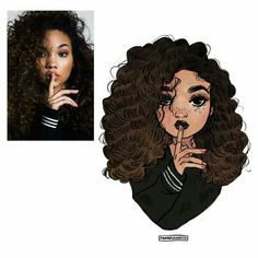 Pin by mackenzie reinholtz on art in 2019 цифровое искусство Black Girl Cartoon, Black Girl Art, Black Women Art, Black Art, Art Girl, Pretty Art, Cute Art, Character Drawing, Character Design