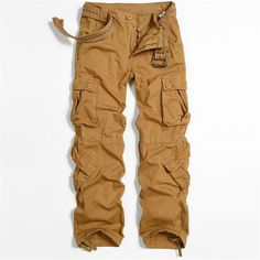 Men's Cargo Pants Casual Multi-Pocket Military Overalls Men Outdoors