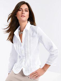 Sommerliche Bluse mit 3/4-Arm