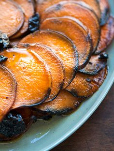 Sweet Potatoes Anna | Sweet Potatoes Anna is basically a dish where you take any type of potato and slice it really thinly then arrange in a pan and bake. It is a great holiday dish to rope in a family member to either be the slicer or the arranger.