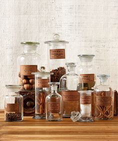 Botany Apothecary Jars, Set of 9 traditional-bathroom-canisters
