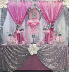 Enriching synchronized quinceanera ideas mexican look at here now Baby Girl Shower Themes, Girl Baby Shower Decorations, Baby Shower Princess, Princess Birthday, Baby Decor, Baby Birthday, Princess Party Decorations, Birthday Party Decorations, Wedding Decorations