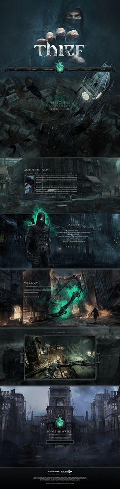 Thief - Web Design / Concept Design — Oniric Creative Studios