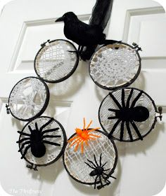 The Thriftress: Lace Spider Web Wreath--