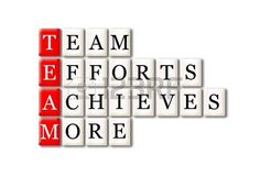 Acronym of Team - Team, Efforts, Achieves, More  Stock Photo