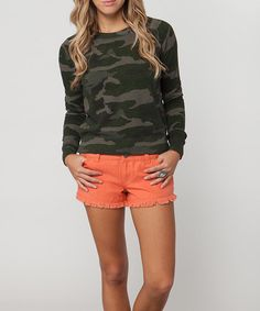 Take a look at this Green Camouflage Blakely Pullover by O'Neill on #zulily today!
