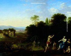 Cornelius van Poelenburgh Landscape with Classical Figures, painting Authorized official website