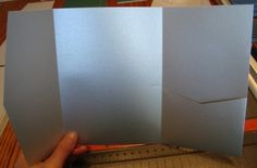 how to make your own pocketfolds for $0.20 a piece!!