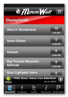 Disneyland® iPhone App - Disneyland® Rides at Disneyland® Resort - MouseWait