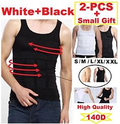 094e92ce27 Mens Slimming Body Shaper Undershirt Vest Shirt Abs Abdomen Shaperware (S-  XXL) (X-Large