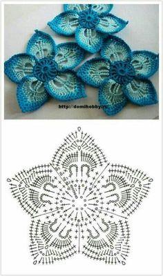 Crochet Flowers Patterns/Patrones de flores a crochet – Sandra_GirlyCrochet