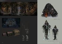 Bloodborne Concept Art - Enemy/Area Concept Art