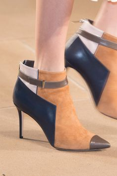 Pin for Later: The Best Shoes to Hit the Runways of New York Fashion Week Prabal Gurung Fall 2015 Ankle Boots, Bootie Boots, Shoe Boots, Fall Winter Shoes, Christian Louboutin, Prabal Gurung, High Heels Stilettos, Pumps, Party Shoes