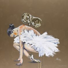Wind Up Doll by Sara Riches #art #ballerina #windupdoll