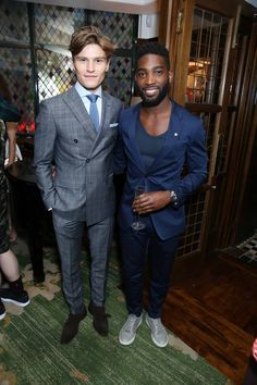 Oliver Cheshire & Tinie Tempah at the Tommy Hilfiger dinner #LCM
