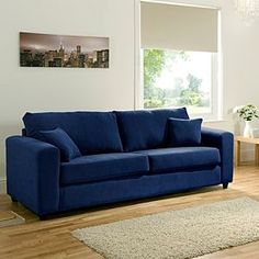 """blue couch  """"Leighton""""   thefind.com"""
