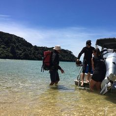 A water taxi gets you into the heart of Abel Tasman - less backpack carrying.