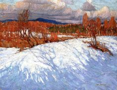 In Algonquin Park, 1914 - Tom Thomson - Group of Seven. Emily Carr, Painting Snow, Winter Painting, Winter Art, Group Of Seven Art, Group Of Seven Paintings, Winter Landscape, Landscape Art, Landscape Paintings