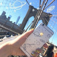 Espacio! iPhone 5/5s - plástico duro, mata, scrach resistente, transparente - 5SE también conveniente para el IPHONE iPhone 6 / 6 + - silicona, súper