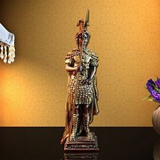 Ancient Rome Guard Standing Statue, Roman Sculpture And Statuary Home Decor 14'