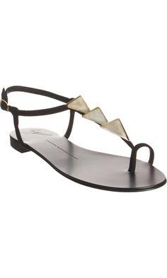 Giuseppe Zanotti Pyramid T-Strap Sandal