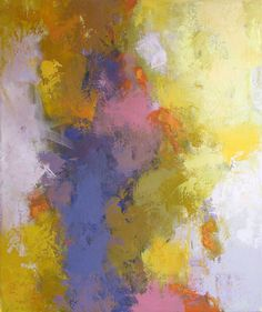 Yellow Abstraction, acrylic on canvas, 24x20 by Debora L. Stewart, sold by UGallery