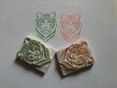 Tiger rubber stamp