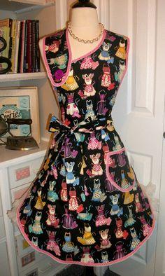 Retro Aprons on a retro handmade apron by mimisneedle on Etsy, $35.95