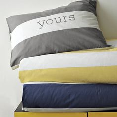 Stripe Duvet Cover + Shams | west elm