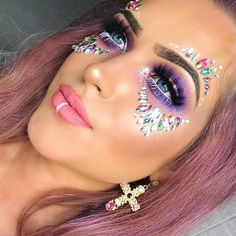 """4,621 Likes, 23 Comments - THE GYPSY SHRINE (@thegypsyshrine) on Instagram: """"MAKE UP GOALS@racheldonnelly11 wearing our best seller 'Iridescent Candy Kiss Face Jewels' ✨…"""""""