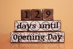 Dad Baseball Gift- Baseball Countdown Blocks- Personalized Baseball Father's Day- Personalized Dad- Baseball Fan Gift- Opening Day Baseball