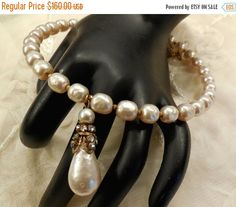 HAPPY HOLIDAY SALE Vintage Miriam Haskell by SilentWhisperVintage