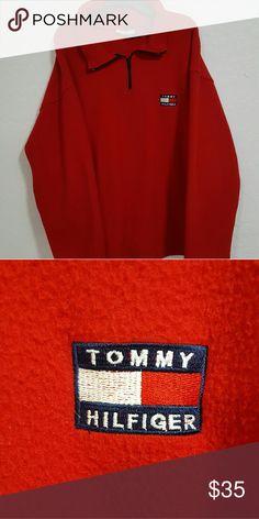 """Vintage 90's Tommy Hilfiger Fleece Size L Men's Vintage Tommy Hilfiger Fleece  Perfect Condition  Size - L Men's  Measurements: Pit to pit  24"""" Shoulder to shoulder 26"""" Sleeves 22"""" Back length 28"""" Tommy Hilfiger Sweaters Crewneck"""
