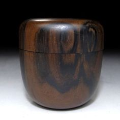 Japanese Lacquered Wooden Tea Caddy, NATSUME