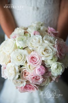 Jaw-Dropping Gorgeous Wedding Flower Ideas - bridal bouquet. Event Design: Rachel A. Clingen Wedding & Event Design; Photo: XERO DIGITAL PHOTOGRAPHY; Via Wedluxe