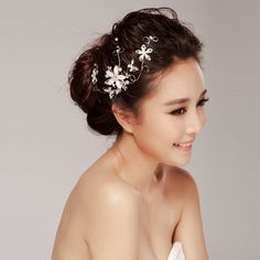 Free Shipping chinese style aesthetic classic colored glaze flower bride wedding decoration hair accessory